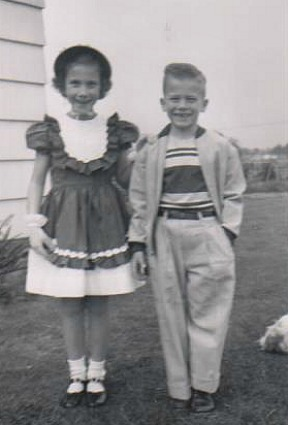 David and me, all dressed up for Mother's Day in 1952.